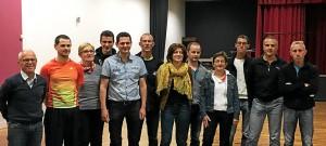 Les membres du bureau réuni autour de Mickaël Offret (4ème en partant de la gauche).