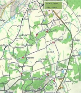 Le parcours du trail et de la marche nordique.