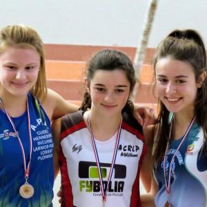 Elisa Gastineau, championne départementale sur 400 m cadettes.