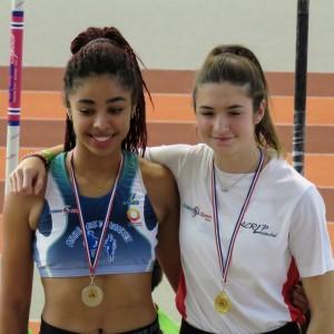 Maïwenn Josse, championne départementale au triple saut.