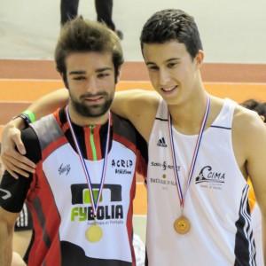 Cédric Lesseur, chamopion départemental sur 400 m juniors.
